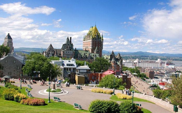 Vue panoramique sur Québec