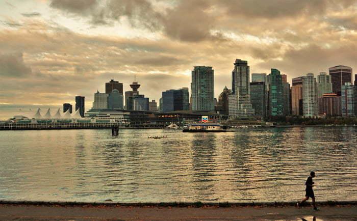 Vue panoramique sur Vancouver