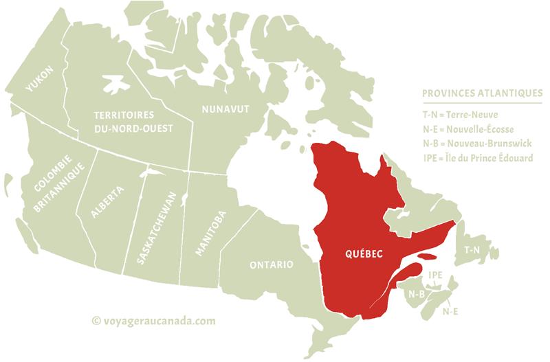 carte Canada Québec