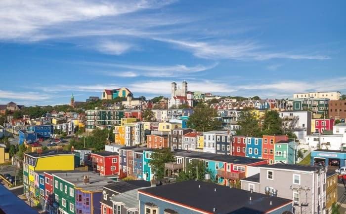 Vue panoramique de St-John's