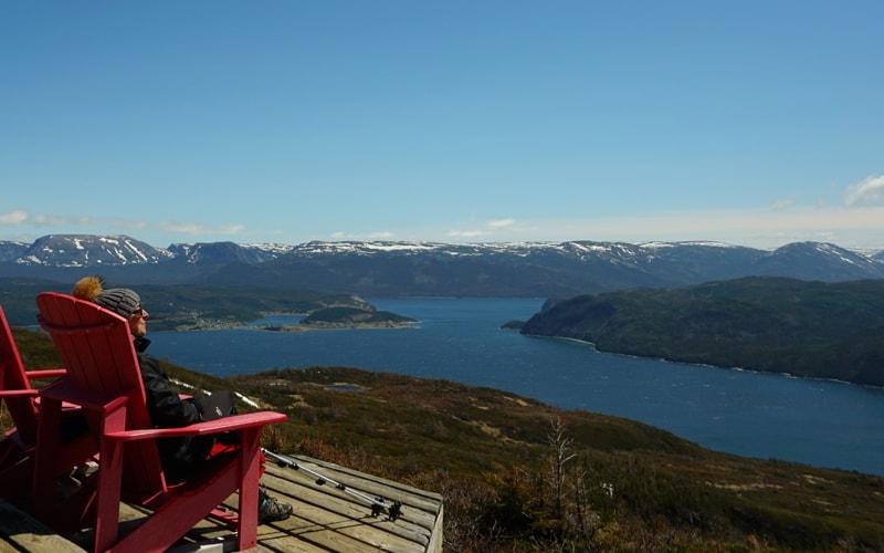 Parc national du Gros-Morne : vue depuis le sommet du sentier Lookout
