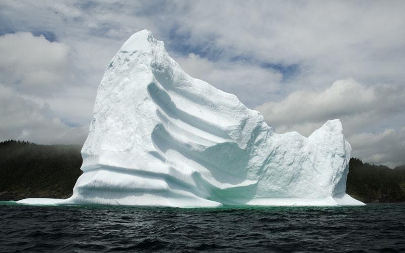 Iceberg au large de St-Anthony à Terre-Neuve
