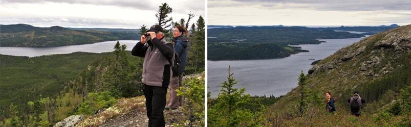 Randonneurs au parc national Terra-Nova à Terre-Neuve