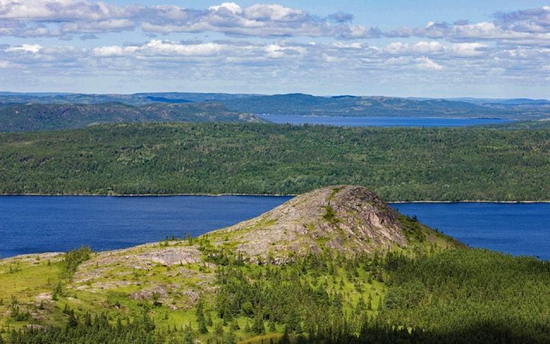 Vue panoramique du parc national Terra-Nova à Terre-Neuve