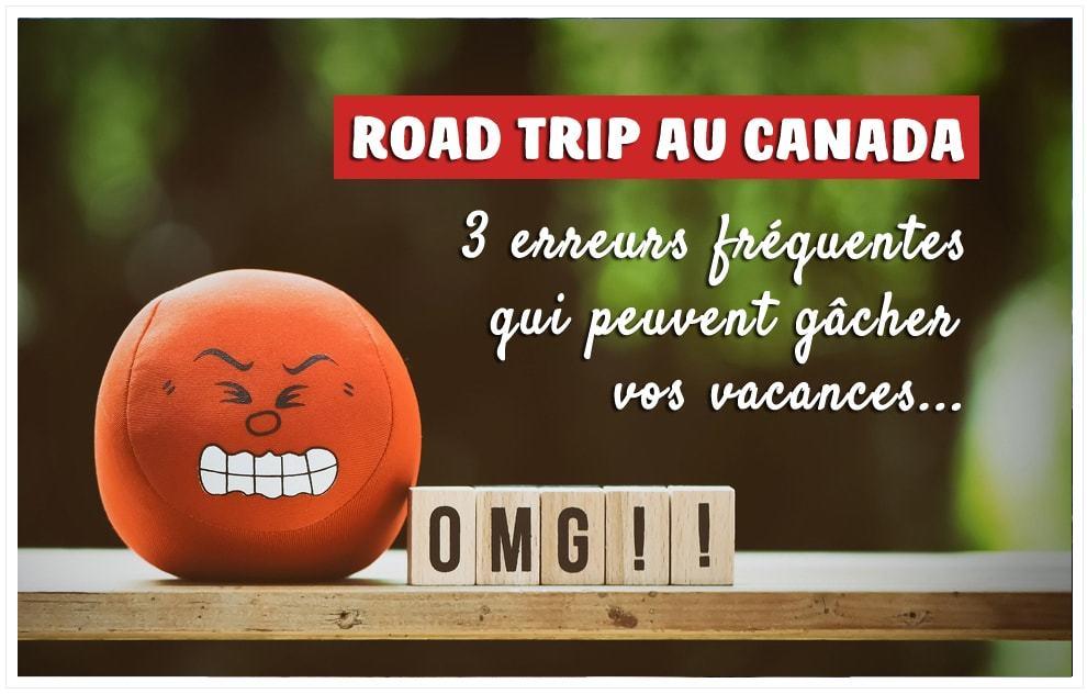Road trip au Canada : 3 erreurs fréquentes