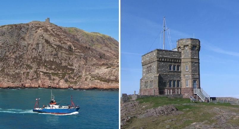 Signall Hill et la tour Cabot à St-John's