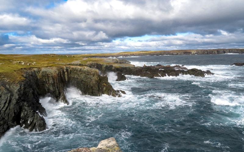 Vue sur le littoral côtier de la péninsule de Bonavista