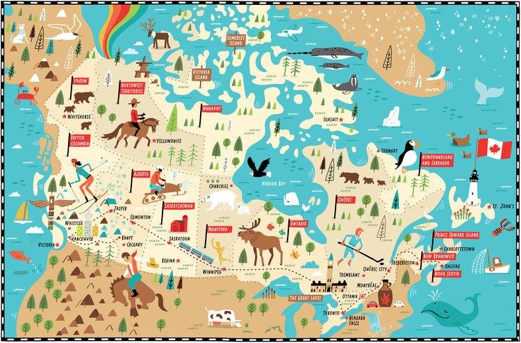 Carte du Canada illustrée par Nate Padavick