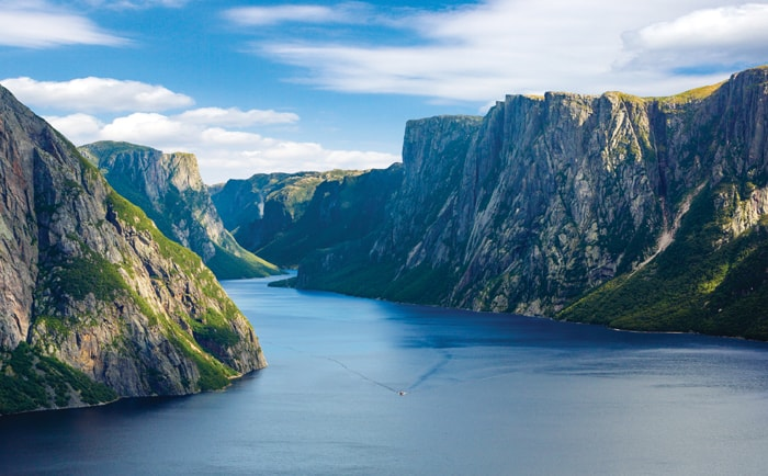 Croisière dans le fjord du Western Brook Pond