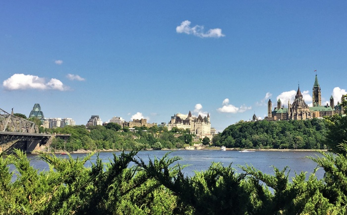 Vue panoramique sur Ottawa
