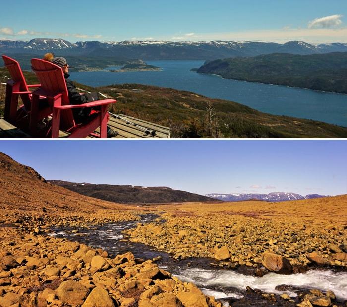 Parc national du Gros-Morne : sentier Lookout et Tablelands