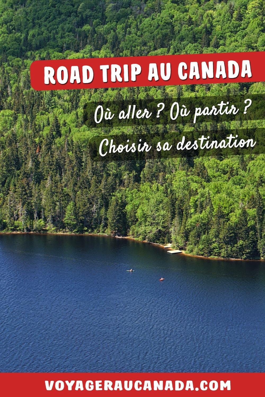 Lac Monroe au parc national du u Mt Tremblant au Québec