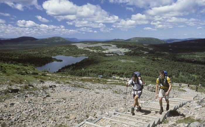 Randonnée dans le parc national de la Gaspésie