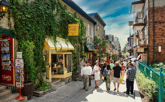 Rue du Petit Champlain à Québec