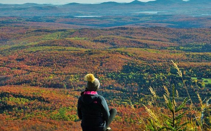 Vue depuis le sommet du Mt St-Joseph en automne