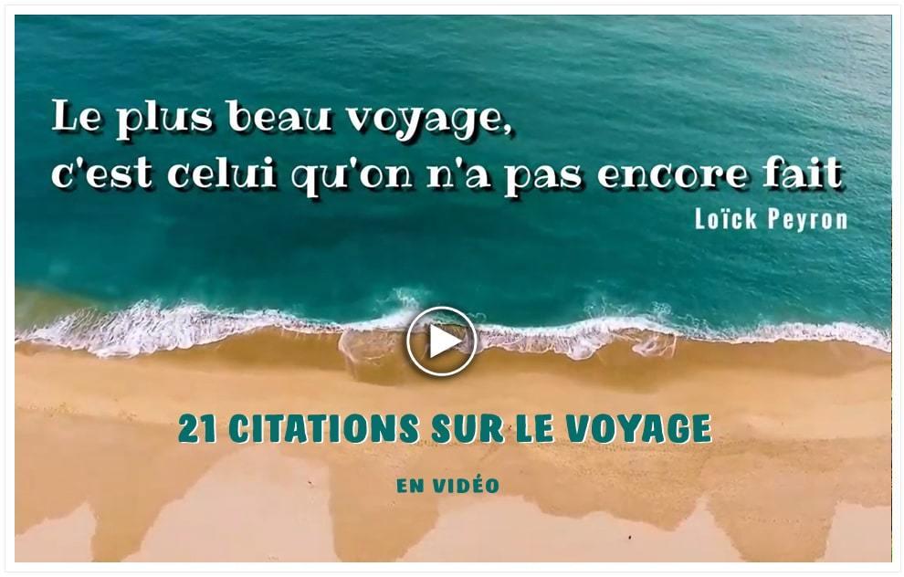 21 citations sur le voyage sur vidéos de drone