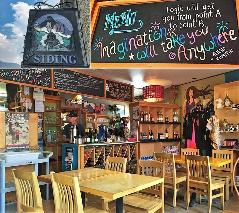 Vue intérieure du Siding Cafe à Field