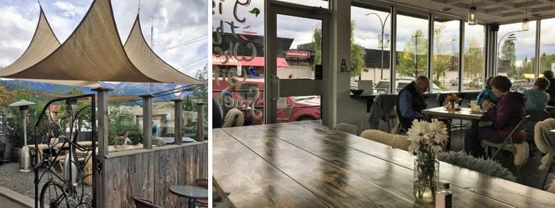 Vue intérieure du Two Sister's Cafe à Smithers