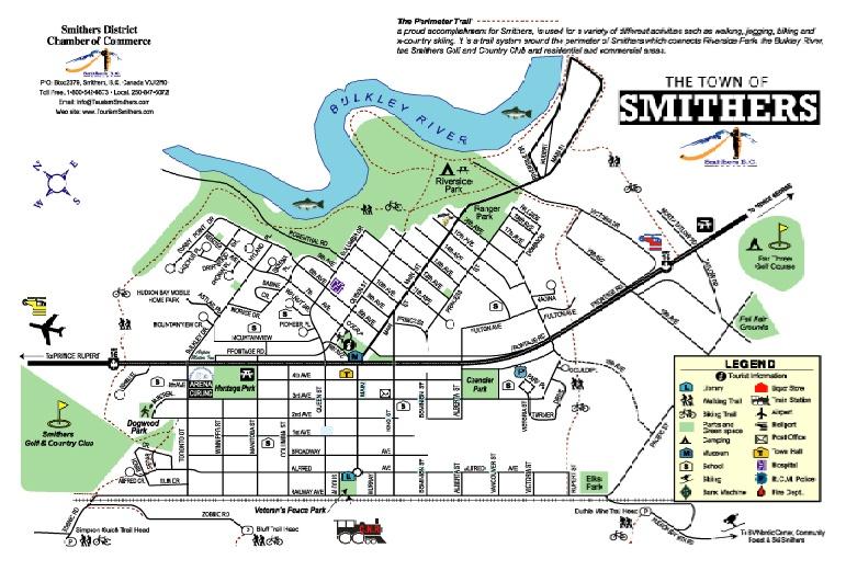 Plan de la ville de Smithers