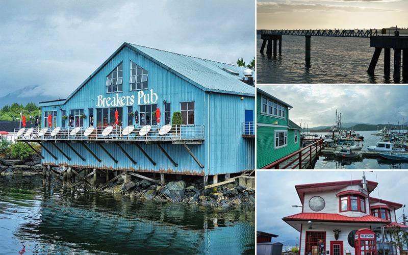 Maisons colorées marina Prince Rupert