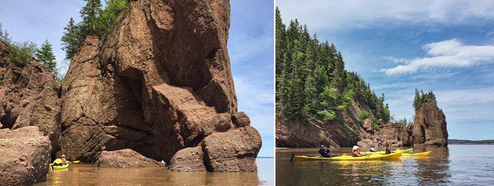 Kayak de mer à Hopewell Rocks