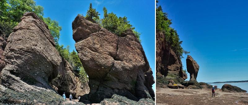 Monolithes à Hopewell Rocks