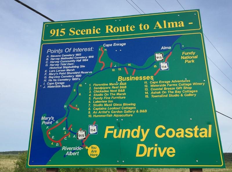 Carte Fundy Coast Drive